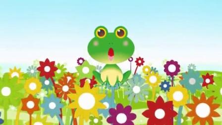 L6707-儿歌小跳蛙舞台背景视频六一儿童节卡通背景