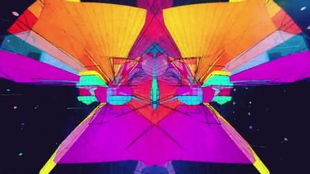 超炫七彩彩虹色彩动感舞台背景视频
