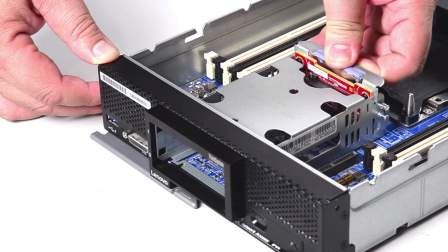 Lenovo ThinkSystem SN550 Install Hard Drive Backplane