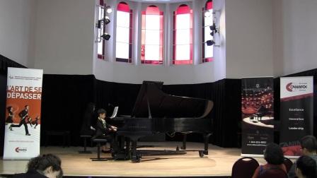 加拿大全国音乐比赛7岁的Leon Xiang获得第3名