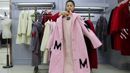 女士时尚冬装百分百澳洲羊剪绒大衣10件起批
