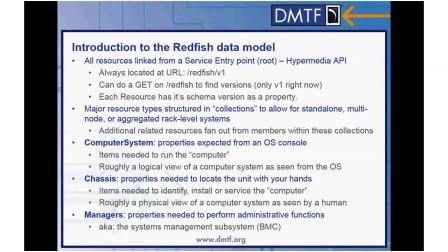 RedfishTM Model Architecture