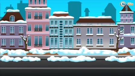 粉红小车贪玩,搭乘缆车的时候遇见暴风雪,结果被困在缆车里面