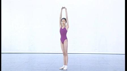 北舞附中古典舞蹈基础基本功示例课女班 第2学期1 头与躯干的训练