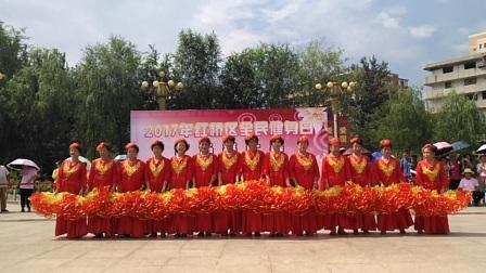 2017.8.8天天乐健身队在西沽公园表演扇子舞《今天是你的生日我的祖国》