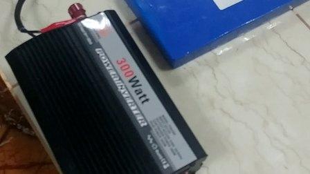 汉丰Hanfonng使用锂电池接逆变器带动风扇操作视频