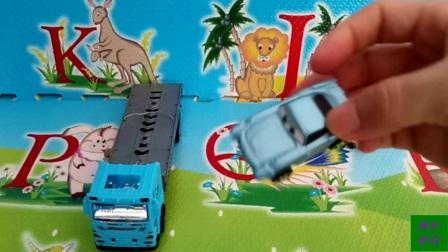 工程车小猪佩奇汪汪队汽车总动员玩具视频2