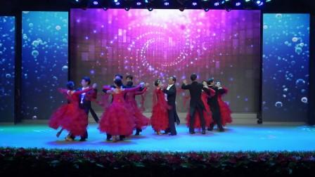 百团大赛大冶市体育舞蹈协会摩登团体舞《舞之韵》展演
