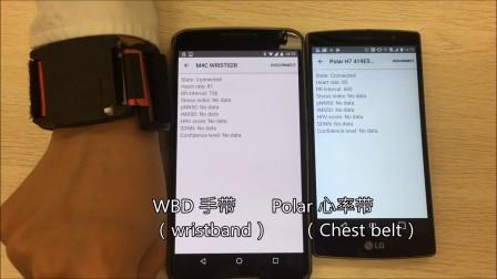 测试视频——Polar心率带和WBD手带的心率变异率