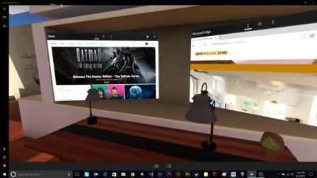 微软MR混合显示门户操作演示