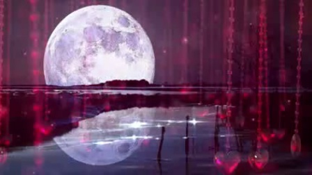 L2243-卷珠帘 浪漫唯美 月光 月夜古风爱情LED大屏晚会舞台背景视频素材