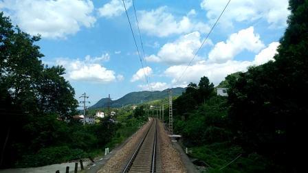 火车上的风景-天气晴朗的的张家界