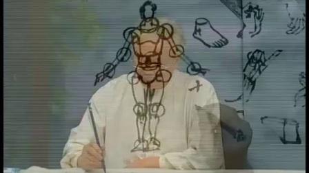 17人体关节与人体基本姿态的比例【芥子园画谱—写意人物篇】_高清
