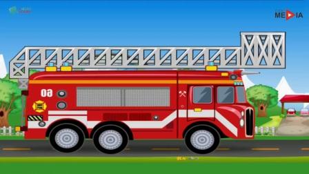 消防员正在驾驶着消防车去灭火,你们太勇敢了