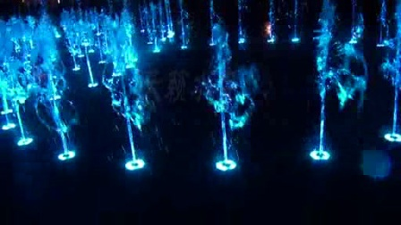五环音乐喷泉实景