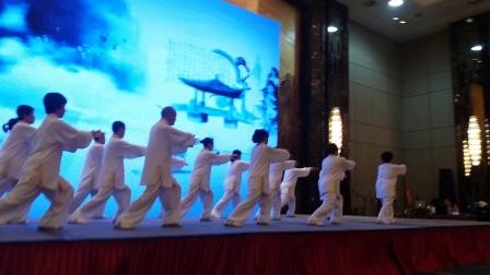 省直协会太极队今天在万达威斯汀酒店展演24式太极拳!👍👍👍