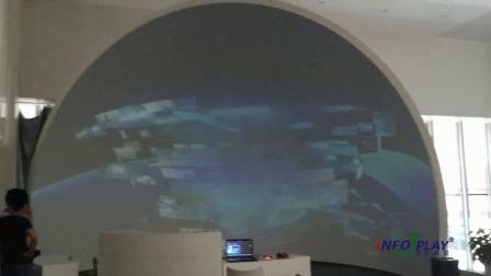 半球体投影融合