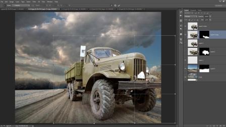 Photoshop的CC操作教程-公路