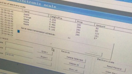 OCOM barcode printing scale TM-B working video 2