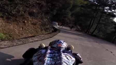 ROLLERMAN @ baimashan 日3 下坡3 caillou ambulant 旅行石头