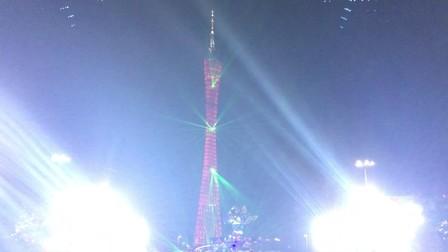 逆变器厂家观赏劲爆的广州塔灯光展