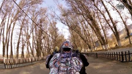 Rollerman @ Urumqi 2 with Xiao Long