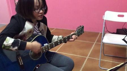 毛毛 九节吉他课小成绩 《小手拉大手》