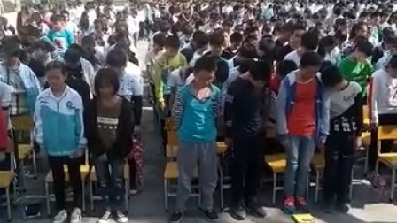 四川达州大竹文星镇13岁男孩弑母,文星学校追悼会