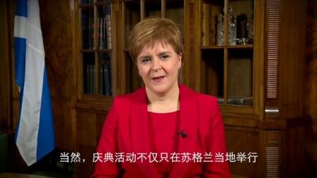 苏格兰首席大臣尼古拉·斯特金庆祝圣安德鲁日