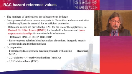 REACH authorisation processes and experiences by Tim Bowmer of ECHA s RAC