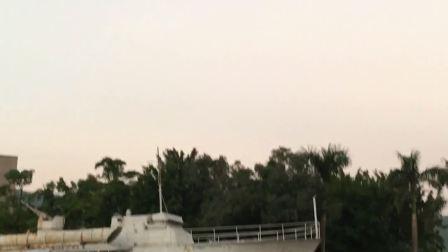 舰艇停放珠海街头