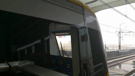 南京地铁s9号线(007008)司机驾驶舱。