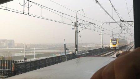 南京地铁s9号线(005006)进高淳站。