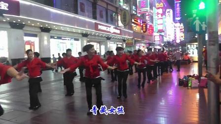 上海红舞鞋广场舞队舞动南京路