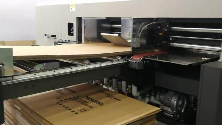 万德 SINGLEPASS瓦楞纸板高速数码印刷连线过光油