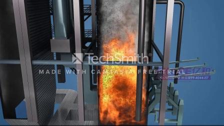 燃煤发电火电厂生产流程三维动画