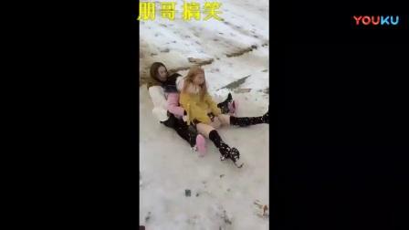 搞笑视频, 搞笑滑雪, 笑死我了!