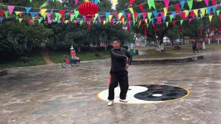 杨乃景于2018年2⃣️月9日在龙港公园晨练陈式56式太极拳