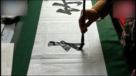 书法教学视频几十年功底的书法家现场写楷书, 稳! 毛笔字书法入门教程