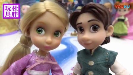 芭比娃娃玩具总动员 中国和外国的长发公主对比拆封试玩