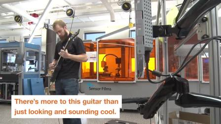 RIT AMPrint中心的3D打印吉他