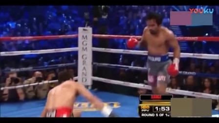 绝地反击! 一直被压制的马奎兹一拳将帕奎奥打晕, 昏倒在台上