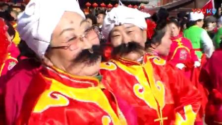 大同2018年春节庙会正月十四华严寺广场秧歌表演4