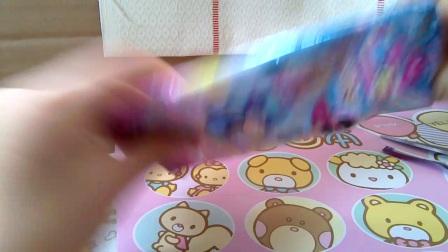 迪士尼食玩卡片拆封