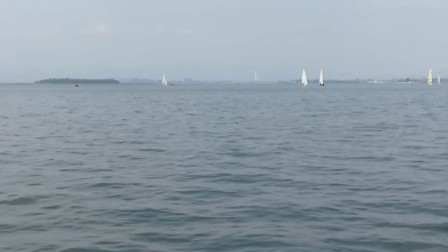 2017年5.18 厦门招商会第二天去海边坐帆船
