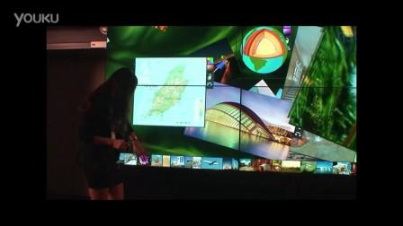超窄边框55寸MultiTaction触控屏发布视频_超清