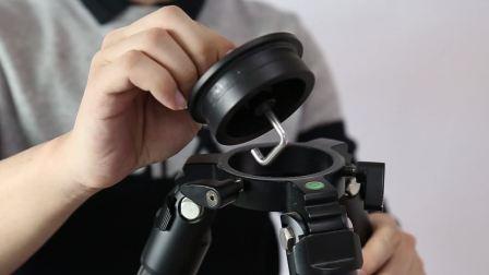 K4207摄像头碳纤维支架 大管径高承重三脚架 单反相机三脚架