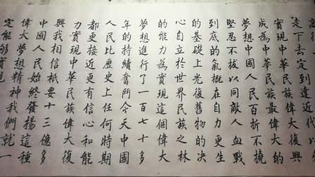 楷书书法展示视频