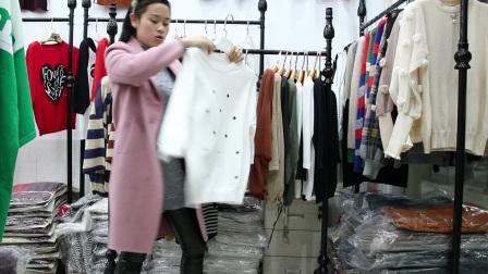 精品女装批发服装批发女士时尚春秋款冰麻面料针织衫20件起批,可挑款零售混批