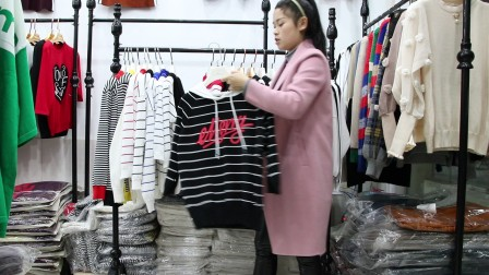 精品女装批发服装批发女士时尚春秋款冰麻面料带帽针织衫20件起批,可挑款零售混批